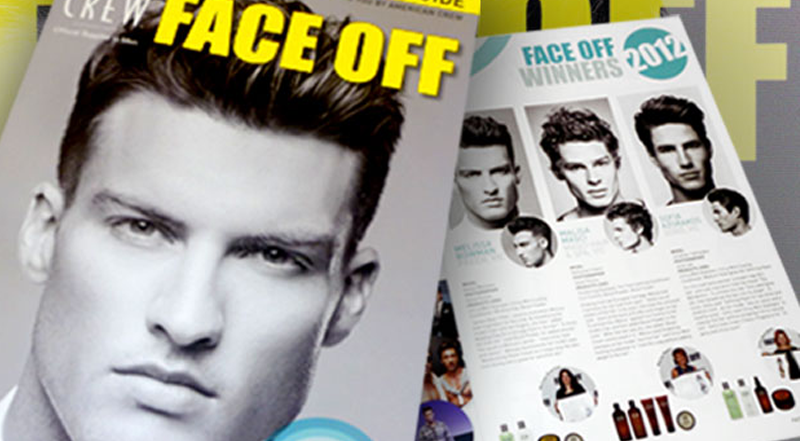 Cover of the 2012 American Crew Face Off Magazine features the winning entry by PREEN